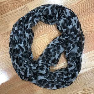 Guess Leopard Infinity Loop Chiffon Scarf